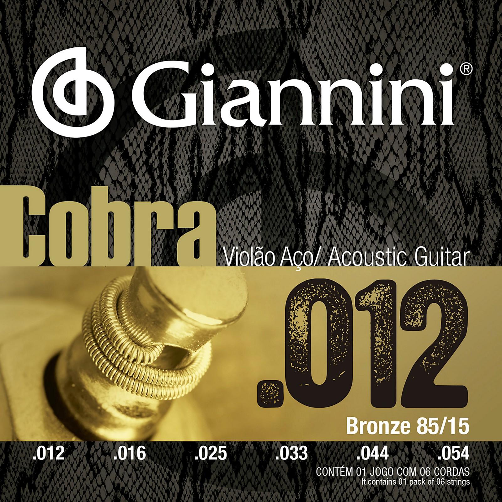 Giannini Cobra Series 85/15 Bronze Medium .12-.54 Acoustic Guitar Strings