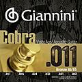 Giannini Cobra Series GEEFLK 85/15 Bronze Light .11-.52 Acoustic Guitar Strings thumbnail