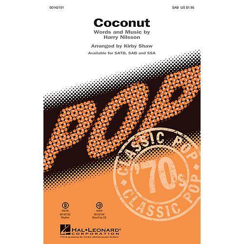 Hal Leonard Coconut SAB by Harry Nilsson arranged by Kirby Shaw