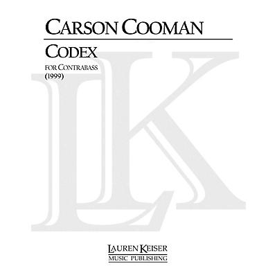 Lauren Keiser Music Publishing Codex (Double Bass Solo) LKM Music Series Composed by Carson Cooman