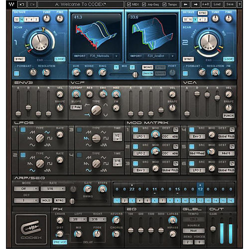 Waves Codex Wavetable Synth Native/SG Software Download