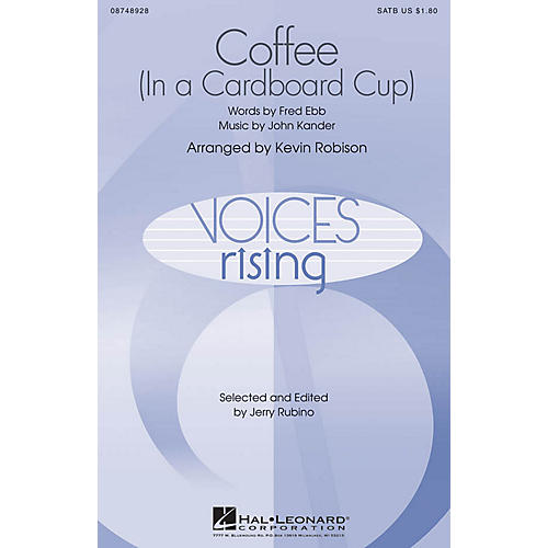 Hal Leonard Coffee (In a Cardboard Cup) SATB arranged by Kevin Robison