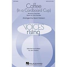 Hal Leonard Coffee (In a Cardboard Cup) TTBB Arranged by Kevin Robison