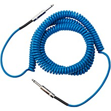 Coiled Instrument Cable 30 ft. Blue