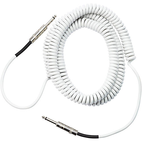 d 39 addario planet waves coiled instrument cable 30 ft white musician 39 s friend. Black Bedroom Furniture Sets. Home Design Ideas