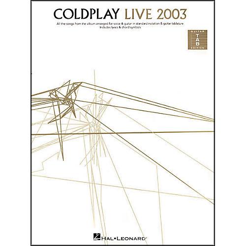 Hal Leonard Coldplay - Live 2003 Guitar Tab Book