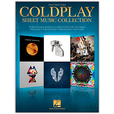 Hal Leonard Coldplay Sheet Music Collection Piano/Vocal/Guitar Songbook