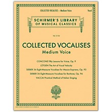 G. Schirmer Collected Vocalises: Medium Voice - Concone, Lutgen, Sieber, Vaccai