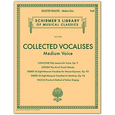 G. Schirmer Collected Vocalises: Medium Voice - Concone, Lutgen, Sieber, Vaccai
