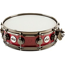 Open BoxDW Collector's Exotic Purpleheart With Heart Graphic Snare Drum, Black Nickel Hardware