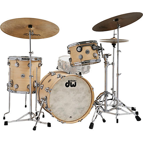 DW Collector's Series 3-Piece Satin Oil Shell Pack with Chrome Hardware Natural