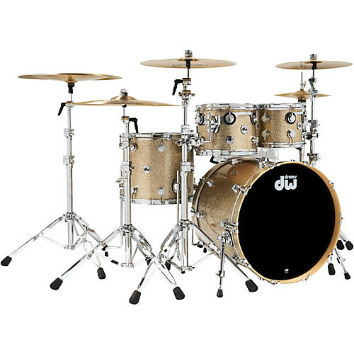 DW Collectors Series 4-Piece SSC Maple Shell Pack with Chrome Hardware Nickel Sparkle Glass