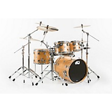 Open Box DW Collector's Series 4-Piece Satin Oil Natural Birch Shell Pack with Chrome Hardware