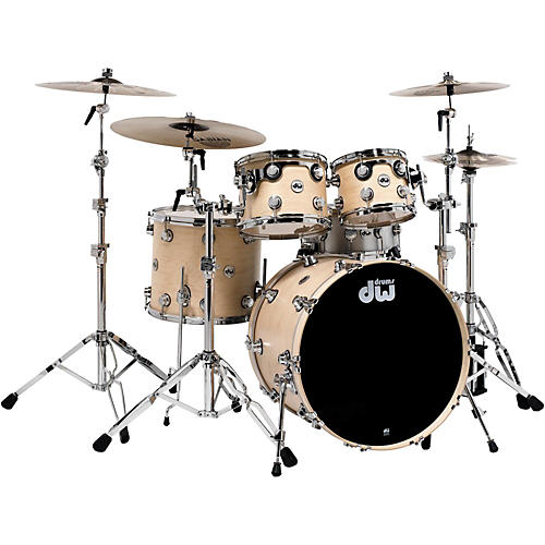 DW Collector's Series 4-Piece Shell Pack Natural Maple Chrome Hardware