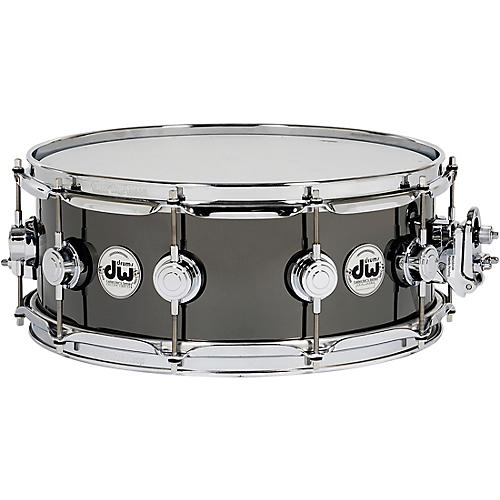 DW Collector's Series Black Nickel Over Brass Metal Snare Drum 14 x 5.5 in. Black Nickel Over Brass with Chrome Hardware