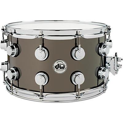 DW Collector's Series Black Nickel Over Brass Metal Snare Drum