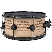 "DW Collector's Series Icon Terry Bozzio ""The Black Page"" Snare Drum"