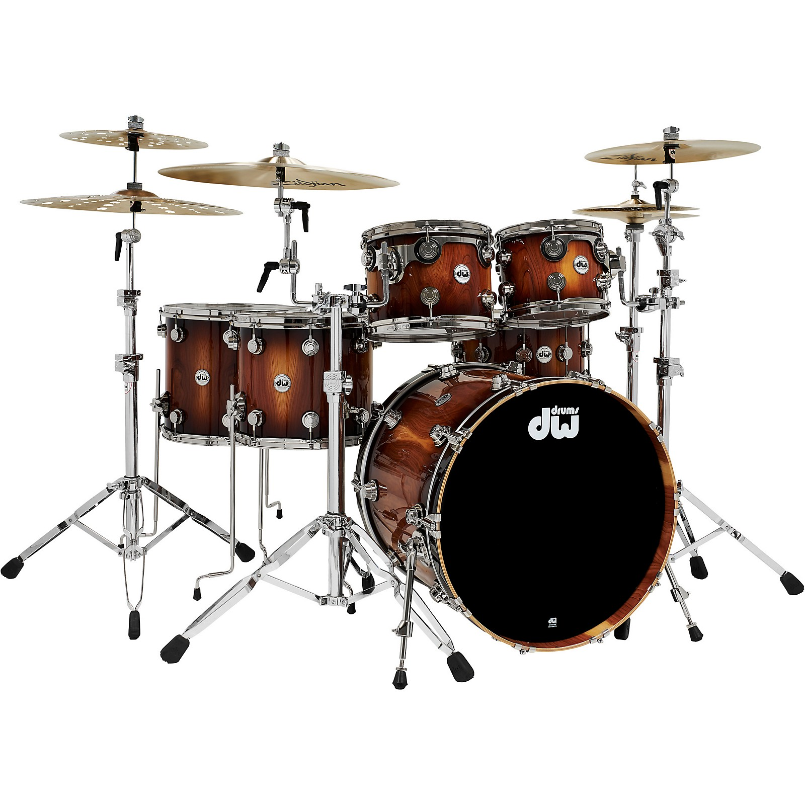 DW Collector's Series Pure Almond 5-Piece Shell Pack with Nickel Hardware, Toasted Almond Burst