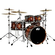 Collector's Series Pure Almond 5-Piece Shell Pack with Nickel Hardware, Toasted Almond Burst