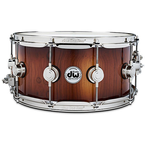 DW Collector's Series Pure Almond Snare Drum with Nickel Hardware, Toasted Almond Burst 14 x 6 in.