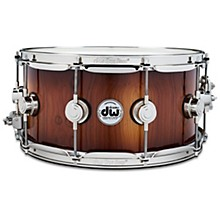 DW Collector's Series Pure Almond Snare Drum with Nickel Hardware, Toasted Almond Burst