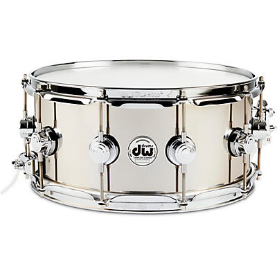 DW Collector's Series Stainless Steel Snare Drum with Chrome Hardware
