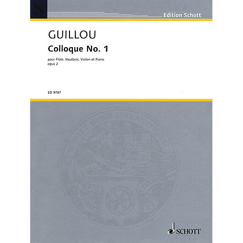 Schott Colloque No. 1, Op. 2 (Score and Parts) Schott Series Softcover Composed by Jean Guillou