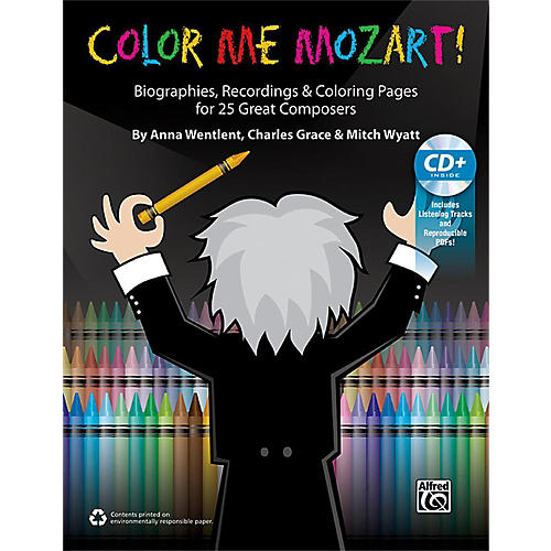 Alfred Color Me Mozart! 100% Reproducible Book & Enhanced CD