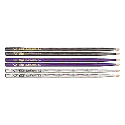 Vater Color Wrap 5A Hickory Drumstick 4-Pack
