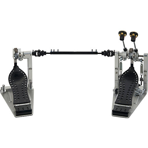 DW Colorboard Machined Chain Drive Double Bass Drum Pedal with Black Footboard