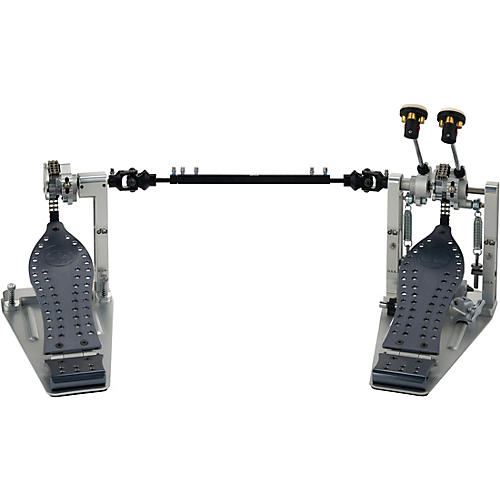 DW Colorboard Machined Chain Drive Double Bass Drum Pedal with Gray Footboard