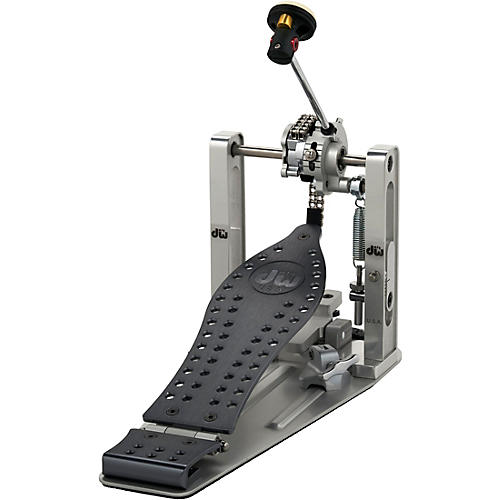 DW Colorboard Machined Chain Drive Single Bass Drum Pedal with Gray Footboard