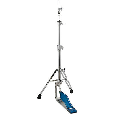 DW Colorboard Machined Direct Drive 2-Legged Hi-Hat Stand with Blue Footboard