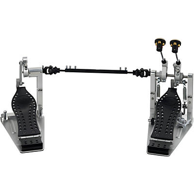 DW Colorboard Machined Direct Drive Double Bass Drum Pedal with Black Footboard