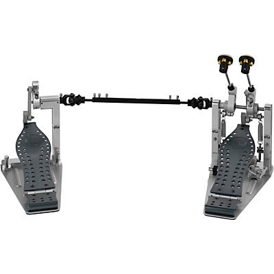 DW Colorboard Machined Direct Drive Double Bass Drum Pedal with Gray Footboard