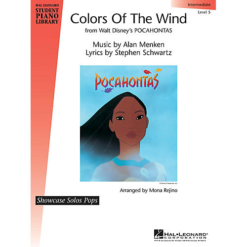 Hal Leonard Colors of the Wind Piano Library Series by Alan Menken (Level Inter)