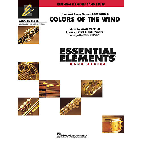 Hal Leonard Colors of the Wind (from Pocahontas) Concert Band Level 2 Arranged by John Higgins