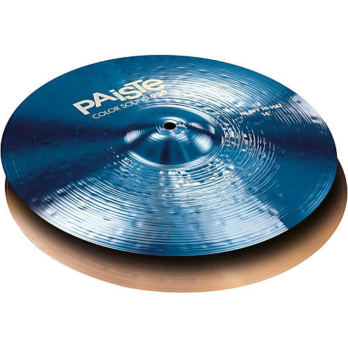 Paiste Colorsound 900 Heavy Hi Hat Cymbal Blue 14 in. Top