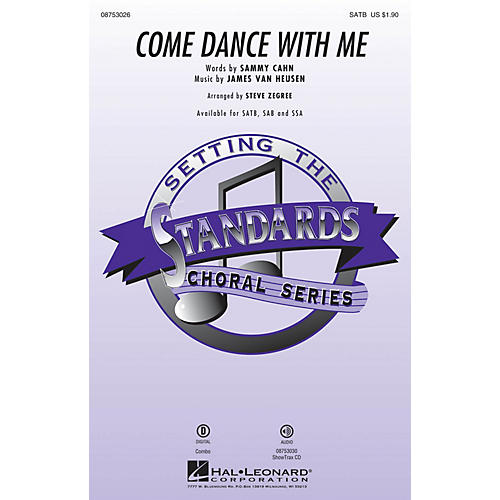 Hal Leonard Come Dance with Me SATB by Frank Sinatra arranged by Steve Zegree