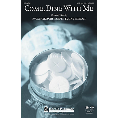 Shawnee Press Come, Dine With Me SATB composed by Paul Baertschi
