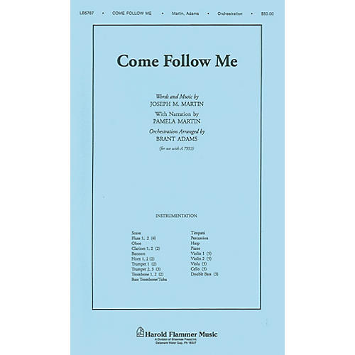 Shawnee Press Come Follow Me (from A Time for Alleluia) Score & Parts arranged by Brant Adams