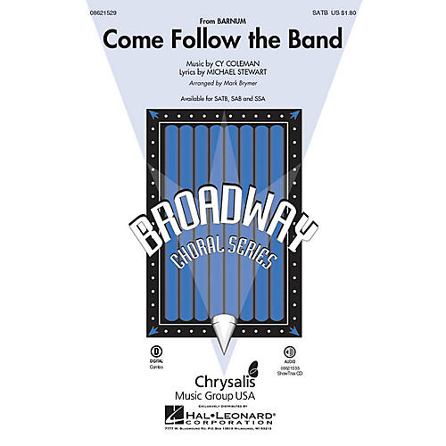 Hal Leonard Come Follow the Band (from Barnum) SAB Arranged by Mark Brymer