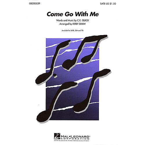 Hal Leonard Come Go with Me TTB A Cappella Arranged by Kirby Shaw