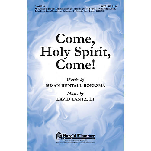 Shawnee Press Come, Holy Spirit, Come! SATB composed by David Lantz III