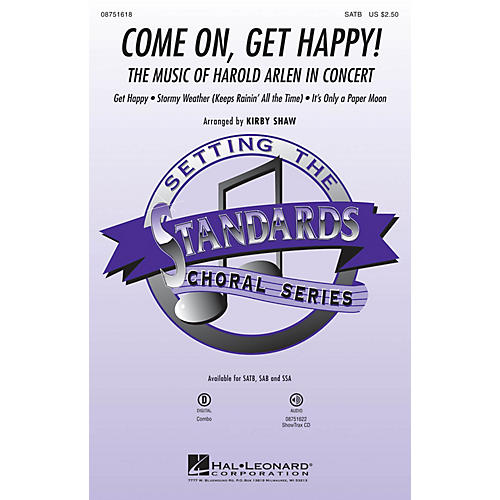 Hal Leonard Come On, Get Happy! (The Music of Harold Arlen in Concert) ShowTrax CD Arranged by Kirby Shaw