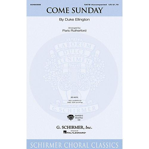 G. Schirmer Come Sunday (Instrumental Pak) IPAKO Arranged by Paris Rutherford