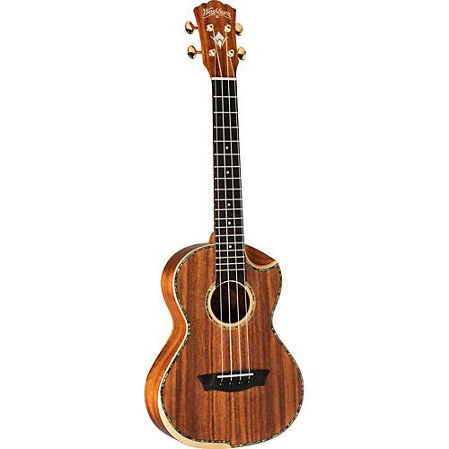 washburn comfort series wu85swk solid koa top cutaway ukulele musician 39 s friend. Black Bedroom Furniture Sets. Home Design Ideas
