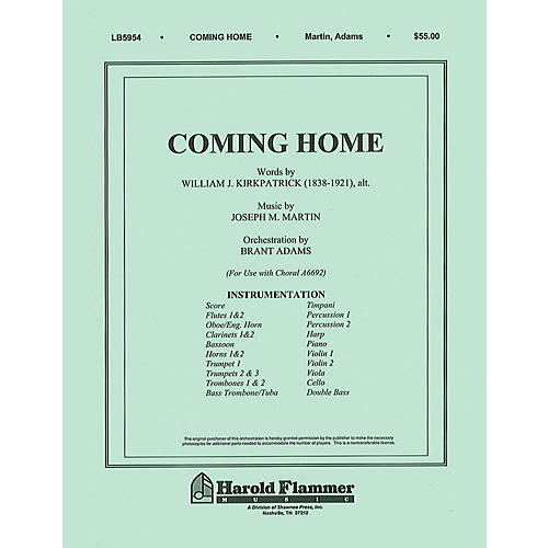 Shawnee Press Coming Home (from Legacy of Faith) Score & Parts composed by Joseph M. Martin