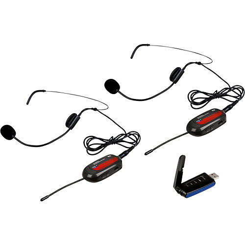 VocoPro Commander-Film-Headset1 Wireless UHF Headset Mic System for Digital Video Cameras Frequency Set 1