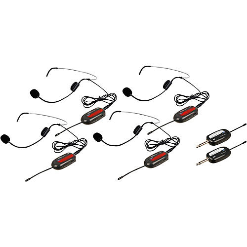 Vocopro Commander-Play-4 4 UHF Wireless Headset Mics with Receivers